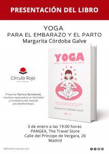 """PANGEA presentación libro """"Yoga para el embarazo y el parto"""" Editorial Círculo Rojo."""